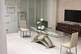 tavoli sala da pranzo allungabili tavolo allungabile con piano in vetro per sale da pranzo idfdesign