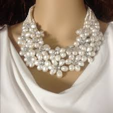 pearl necklace accessories images Pannee accessories freshwater pearl multistrand necklace poshmark jpg