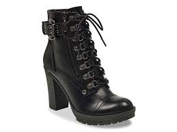 womens size 12 black combat boots g by guess gimmy combat boot s shoes dsw