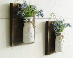 Farmhouse Wall Sconce New Rustic Farmhouse Wood Wall Decor Set Of 3 Hanging
