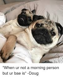 Not A Morning Person Meme - when ur not a morning person but ur bae is doug doug meme on me me