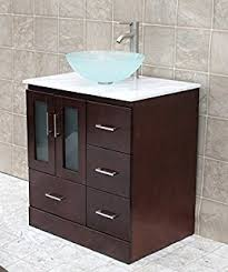 30 In Bathroom Vanity 30 Bathroom Solid Wood Vanity Cabinet Ceramic Top