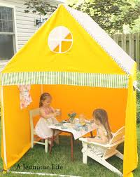 pvc playhouse and sunshade create memories with kids the