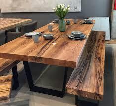 Esszimmertisch Aus Paletten Esstisch Massivholztisch Aus Eichenholz Altholz Tischgestell