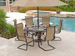 60 Patio Table Aluminum Sling Patio Furniture Comfortable Seating For Outdoor