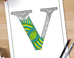 zentangle alphabet coloring pages adults letter henna