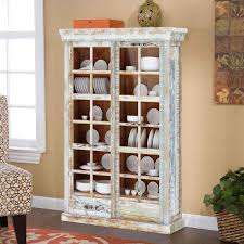 display cabinet with glass doors rainbow rustic reclaimed wood glass door display cabinet