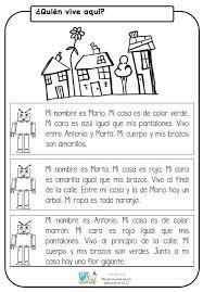 imagenes para colorear y escribir oraciones nueva ficha para trabajar la comprensión lectora de frases y textos