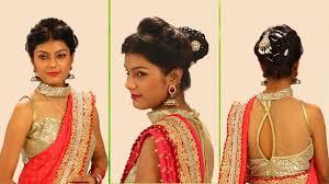 simple bridal hairstyle bangladeshi hairstyle with lehenga for wedding girly hairstyle