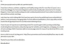 blog editor cover letter