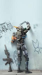 chappie robot art film poster iphone 8 wallpaper download iphone