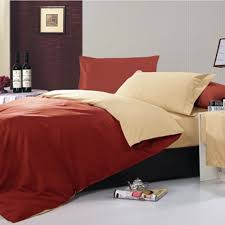 100 cotton reversible double duvet cover set with flat sheet