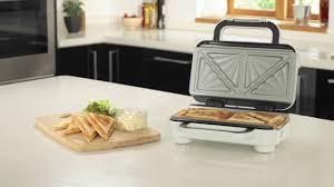 Krups Sandwich Toaster Breville High Gloss Duraceramic Sandwich Toaster Vst074 Youtube