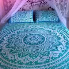 Tapestry Duvet Green Ombre Mandala Tapestry Bed Sheet U0026 Pillow Cases Bohemian