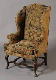 Armchair In Spanish An Early 18th Century Walnut Wing Armchair The Serpentine Back And