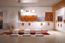 contemporary kitchen wooden lacquered high gloss