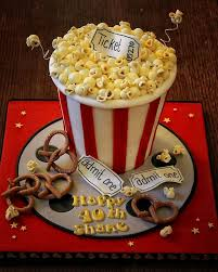 night at the movies cake for josh maybe with movie reel
