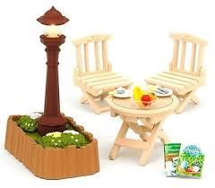 Sylvanian Families Garden - sylvanian families furniture an outdoor light and garden table set