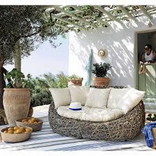 canapé rotin 2 places canapé de jardin 2 places en rotin kubu archi material
