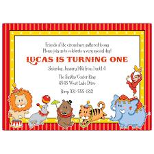 1st birthday circus invitations vertabox