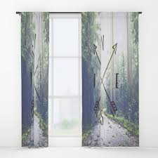 Window Curtain Woods Window Curtains Society6