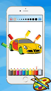 super car coloring book vehicle drawing kid free game paint