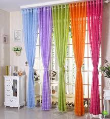 Orange And Blue Curtains Free Shipping Multicolors Sheer Curtain White Purple Blue Green
