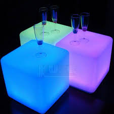 led cubes led glow cube stool side table 40cm dazzelled