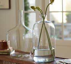 Glass Vase Decoration Ideas Clear Glass Vases Pottery Barn