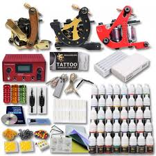 professional tattoo kit 3 top machines 40 color inks power diy 407