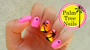 nail art 46 fantastic palm tree nail art photo ideas palm tree