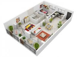 in apartment plans 20 interesting two bedroom apartment plans home design lover
