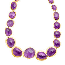 amethyst necklace silver images Piara 151 ct amethyst necklace in 18k gold plated sterling silver jpg