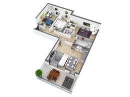 house plan 25 more 3 bedroom 3d floor plans l shaped houses plans