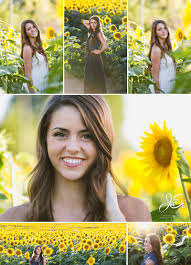 kansas city outdoor sunflower senior photo session