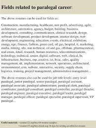 Paralegal Assistant Resume Top 8 Paralegal Resume Samples