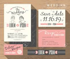 save the date cards free wedding invitation set design template vector place card response