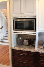 microwave kitchen cabinet micro appliance garage hides the microwave and small appliances