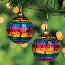 rainbow mirror ornaments
