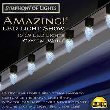 white led animated c9 string lights