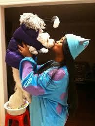 Monster Boo Halloween Costume Diy Halloween Dog Costume Monsters Sulley U0026 Boo Dressed