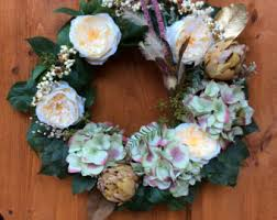 artichoke wreath etsy