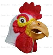 rubber animal chicken mask farm realistic animal party mask