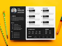 psd resume template 25 best free resume templates for all ui collections medium