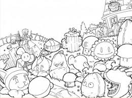 plants zombies coloring pages cabbage pult free kids free