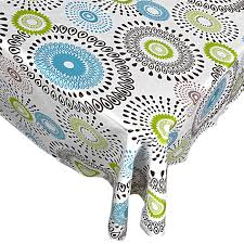 Patio Party Vinyl Tablecloth by Amazon Com Whimsy Circle Contemporary Print Indoor Outdoor Vinyl