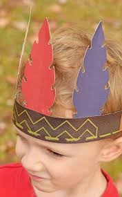 thanksgiving indian costume diy no sew indian headband