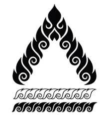 traditional design thai art pattern retro traditional design vector image