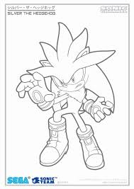sonic pictures color print sonic coloring pages silver 1555