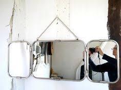 Tri Fold Bathroom Mirror by Lot Of 3 Vintage Mirror Barber Bathroom 1950 Trifold Mirror